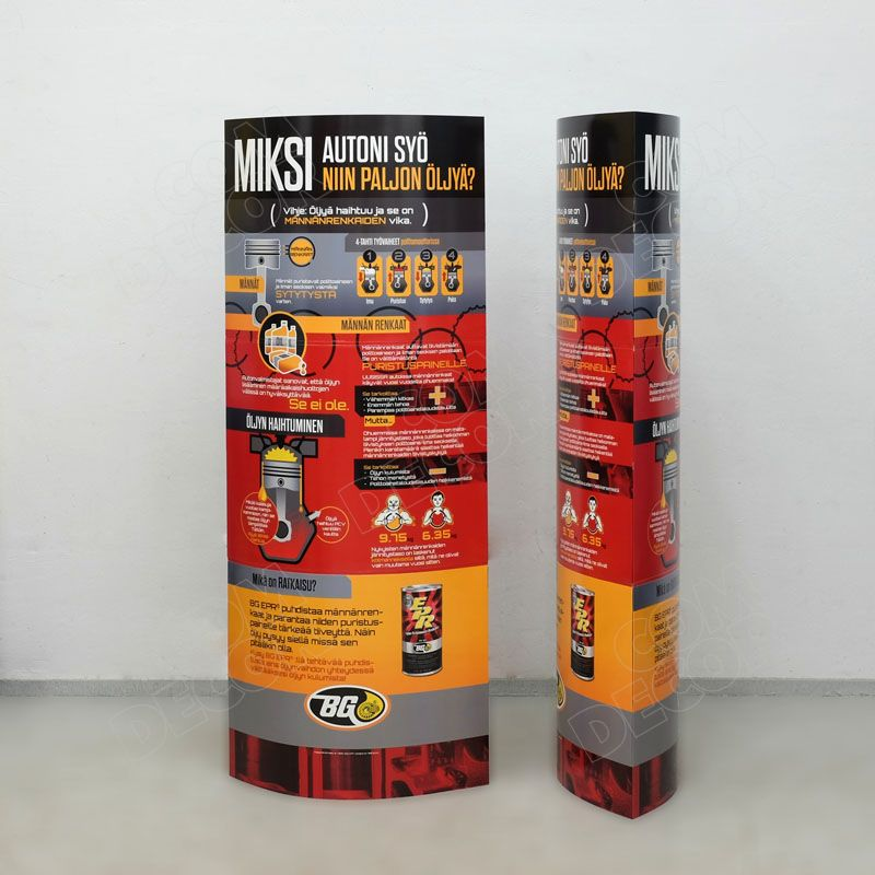 Kartongist pop up reklaam - ellips pülon