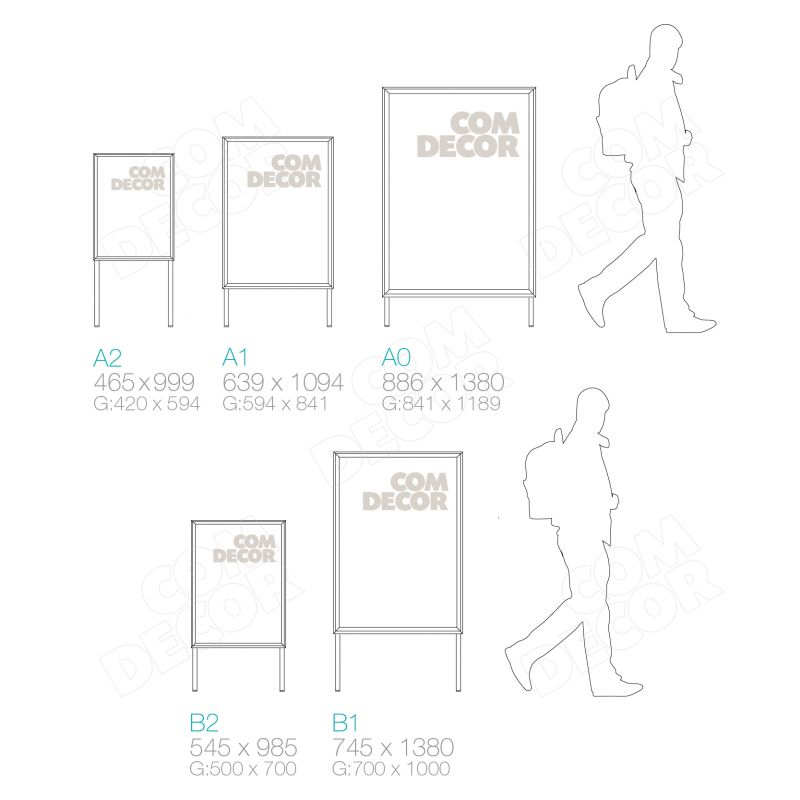 A-stand - size guide