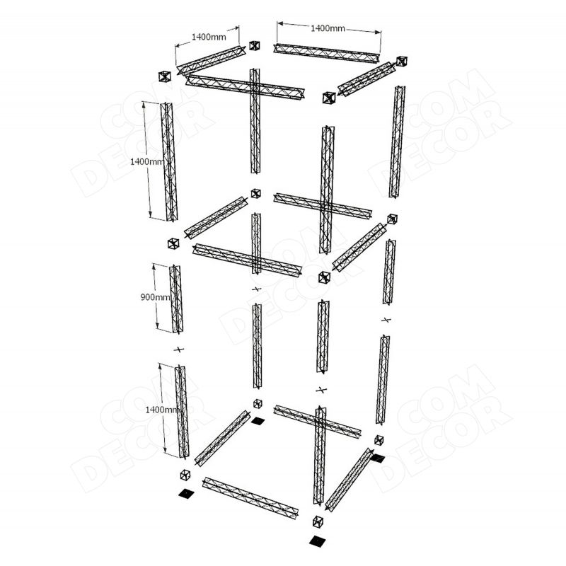 Exhibition stand / trade fair stand / X10 truss