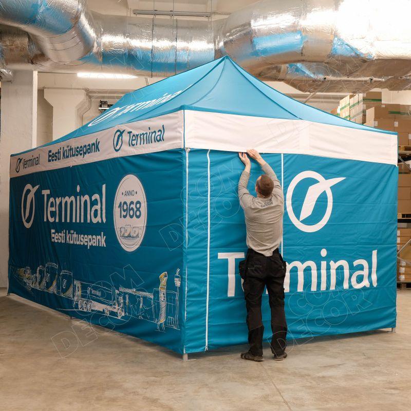 Racing tent / service tent